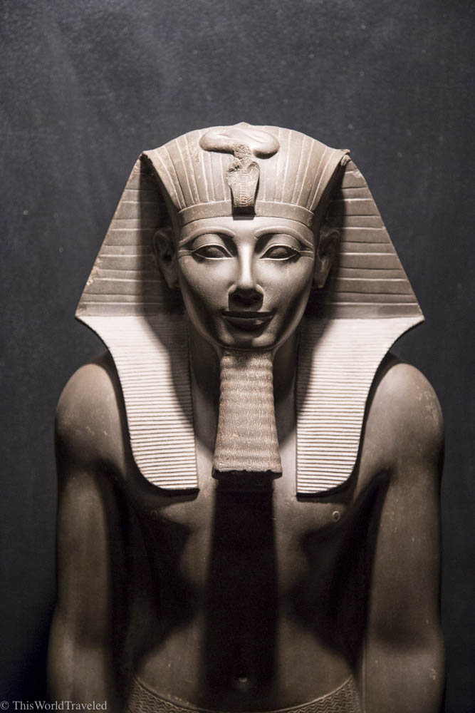 One of the many sculptures that can be seen inside Luxury Museum in Egypt