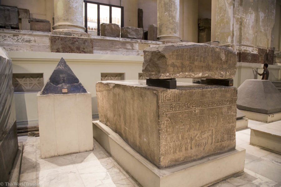 One of the many artifacts that are housed in the Egyptian Museum in Cairo, Egypt