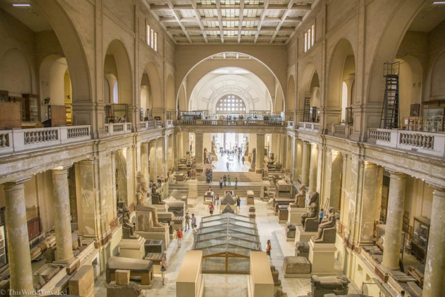 Inside the Egyptian Museum in Cairo, Egypt