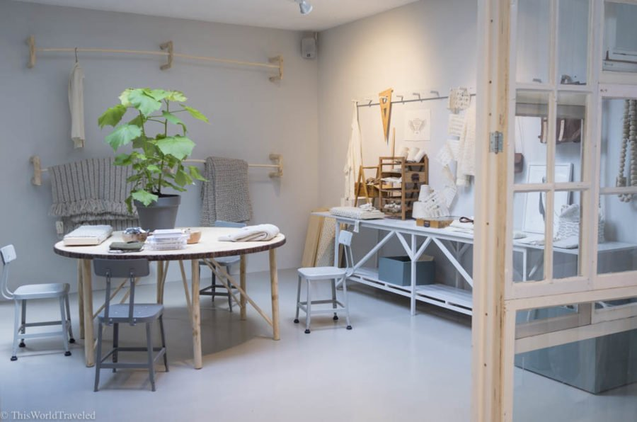 Sukha in Amsterdam has many beautiful neutral colored clothing items.