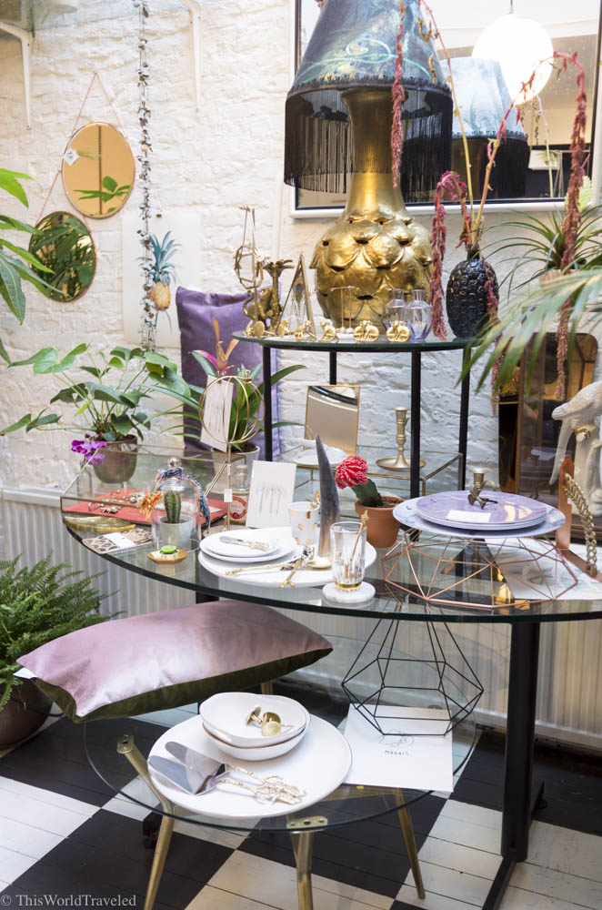 The classy displays and interior home decor at Nuvo Niche in Amsterdam