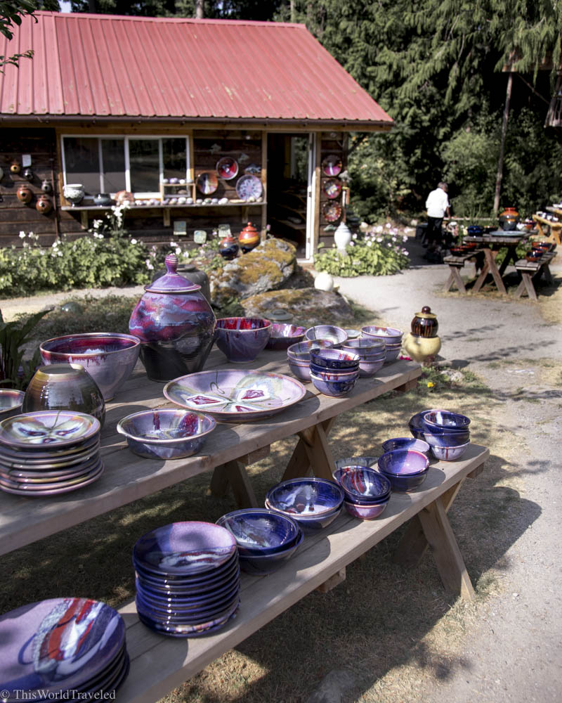 The handmade pottery had to be included in this shopping guide to Orca's Island