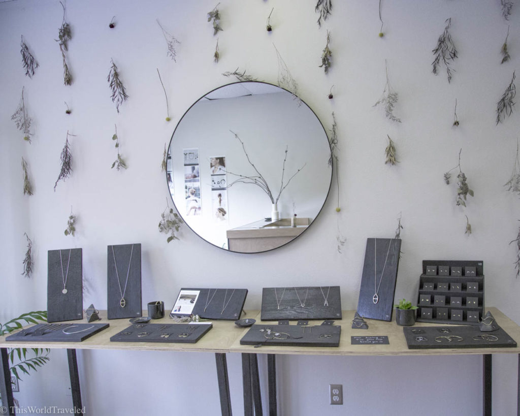 Jewelry found at Material Wit, a local boutique shop in Eastsound, Orcas Island, Washington, USA