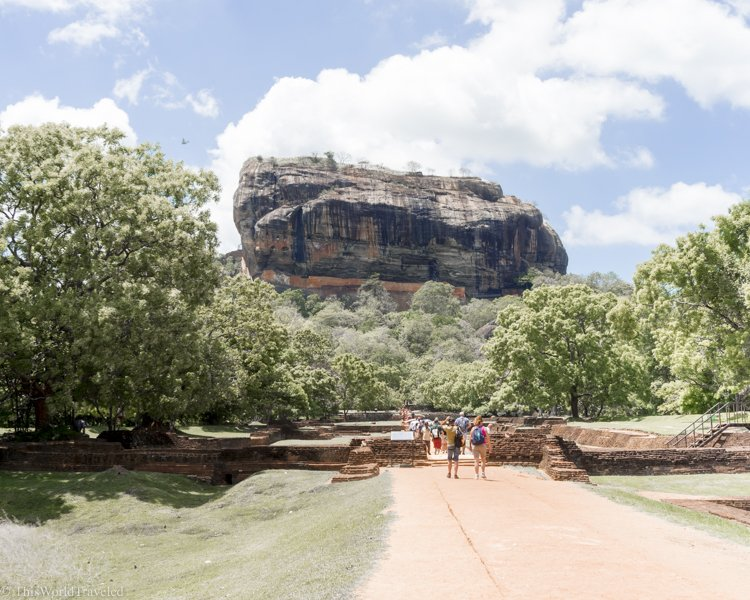 You can already see Sigiriya Rock as you enter the area