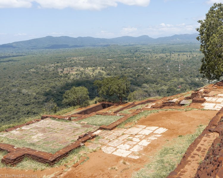 As you begin to climb up Sigiriya Rock you can already get a glimpse of the panoramic views