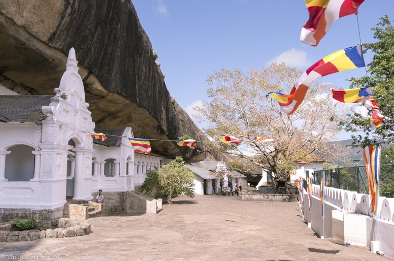 The Dambulla Cave Temples is a world heritage site located in the center of Sri Lanka