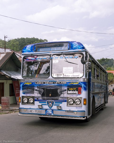 The buses in Sri Lanka are a fun way to get around. There is always music playing on these buses
