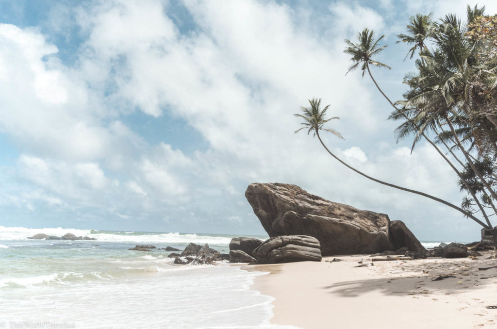 Dalawella beach is a quiet, beautiful beach on Sri Lanka's southern coast