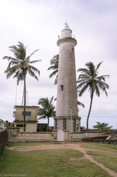 Walk along the historic wall at Galle Fort until you reach the lighthouse