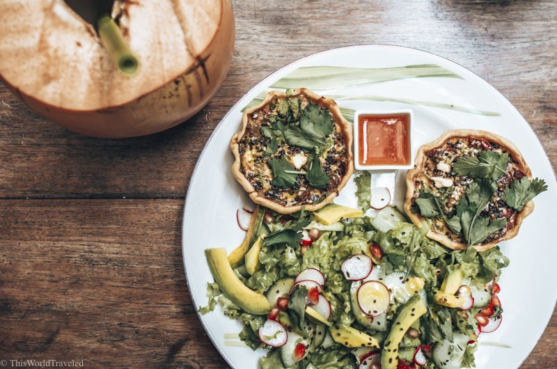 The delicious vegetable tarts at Poonie's Kitchen in Galle Fort