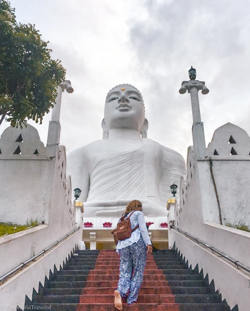 You should make a visit to the Bahiravokanda vihara Buddha statue during your visit to Kandy in Sri Lanka.