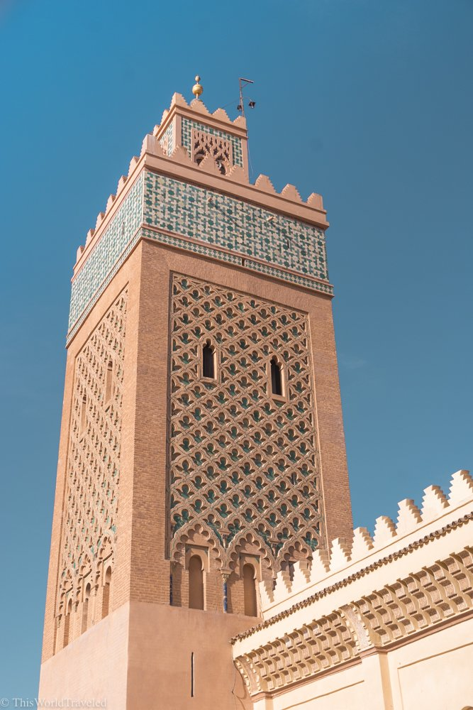 The largest Mosque in Marrakesh is the Koutoubia Mosque and can be seen high above the medina. Marrakesh is a great place to explore for a couple of days before heading out to the desert!