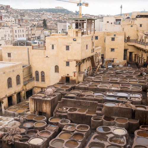 The tanneries in Fez are a must visit when in the area. Here you can observe the process of how the dye the leather!