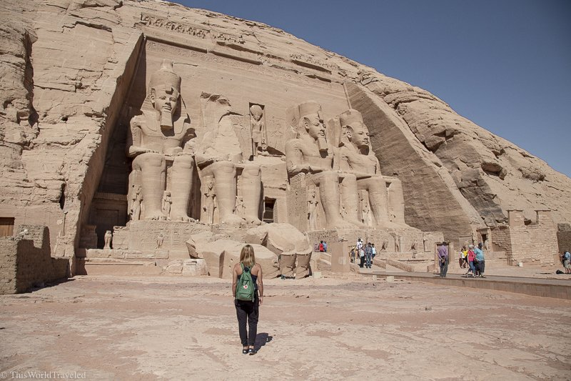 Be sure to visit Abu Simbel during a visit to Aswan in Egypt! There is so much history to be seen here and the carvings are just incredible.