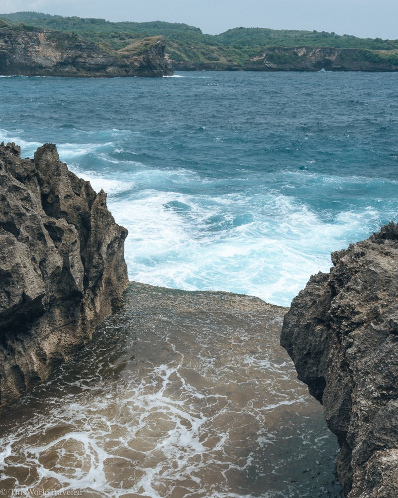 Another popular place in Nusa Penida is Angel's Billabong. We were there during the rainy season so we didn't get the clear water that you normally see.