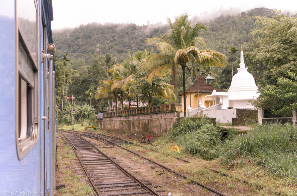 Views like this are common along the most beautiful train journey in Sri Lanka. This trip takes you from Kandy, through Nuwara Eliya and ends in Ella.