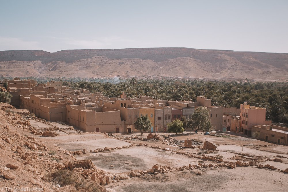 Driving through the Atlas Mountains in Morocco will take you past some of the beautiful landscapes in the rural parts of the country.