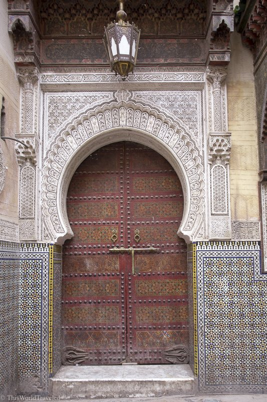 The architecture and entryways in Morocco is so stunning.