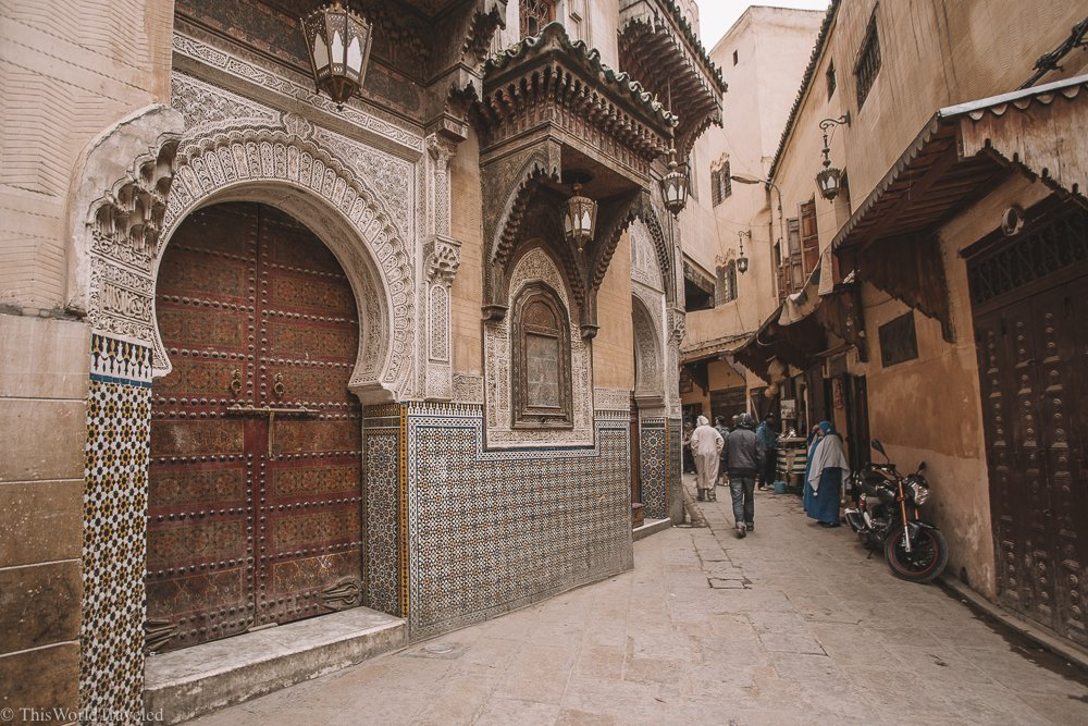 The authentic streets of Fez are perfect for exploring and getting lost!