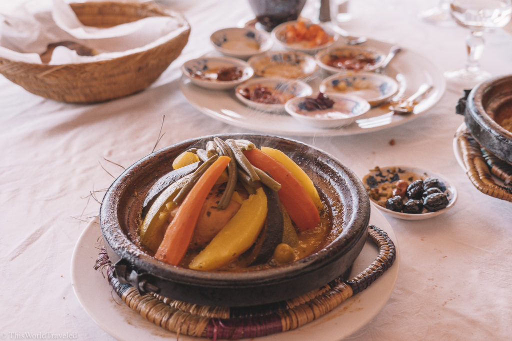 The tangine dish is one of Morocco's most popular and traditional cuisines!
