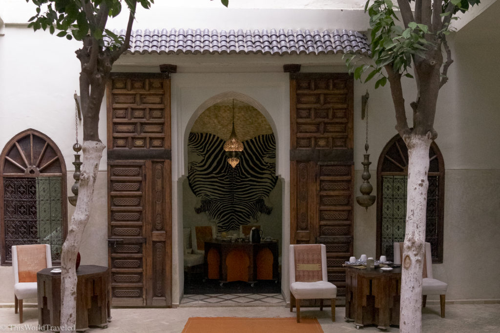 Each Riad is decorated differently but they all have similar elements and stunning interiors