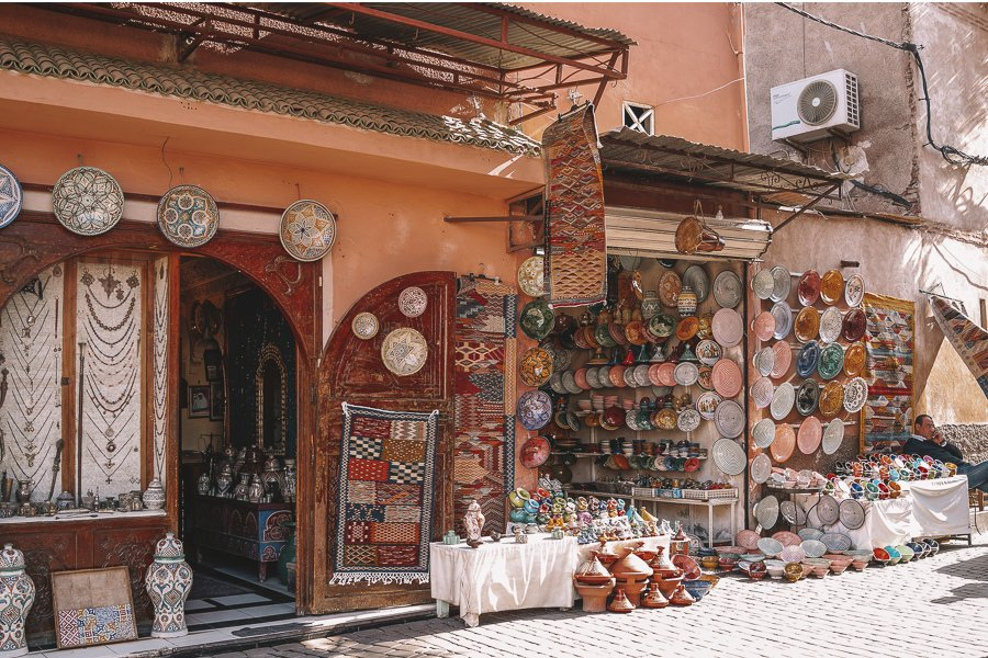 In each of the Moroccan cities you will find large Souks selling beautiful items at an inexpensive price!
