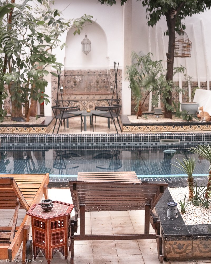 Many of the Riad's in Morocco have a central pool or fountain to symbolize the heart of the home