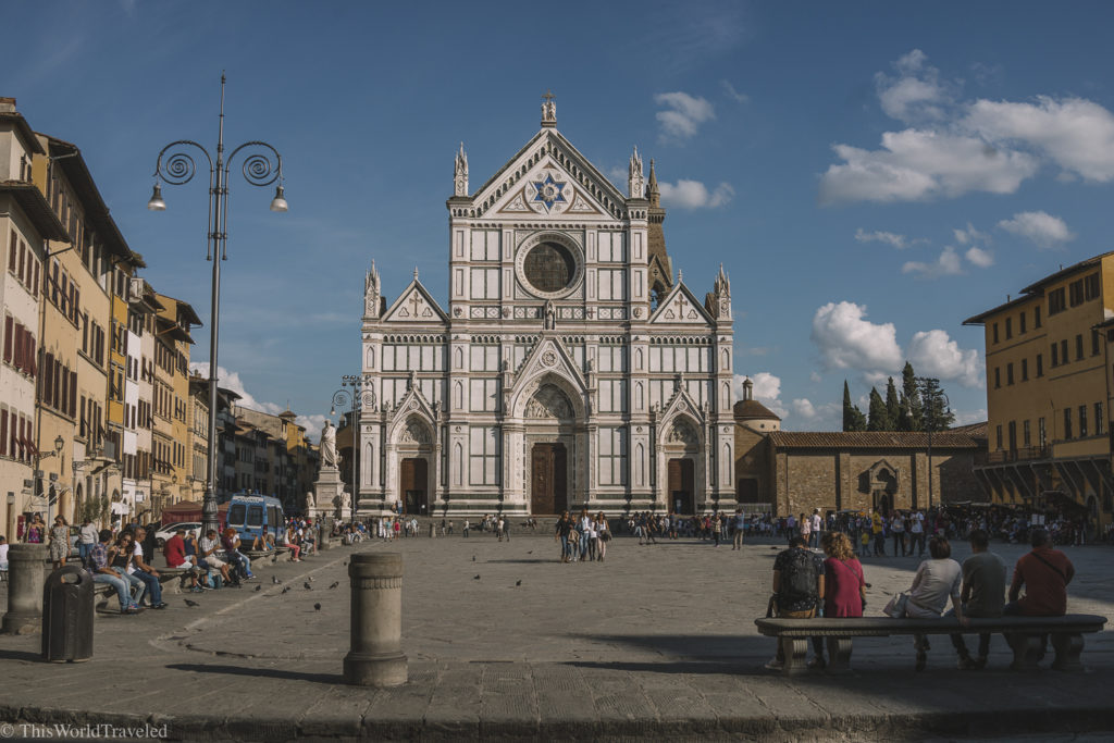 The beautiful Basilica di Santa Croce in the heart of Florence Italy!