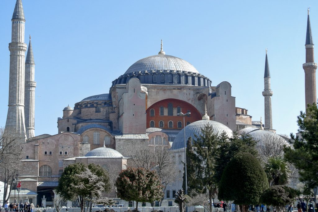 The Hagia Sofia is one of Istanbul's most popular landmarks and is now a museum.