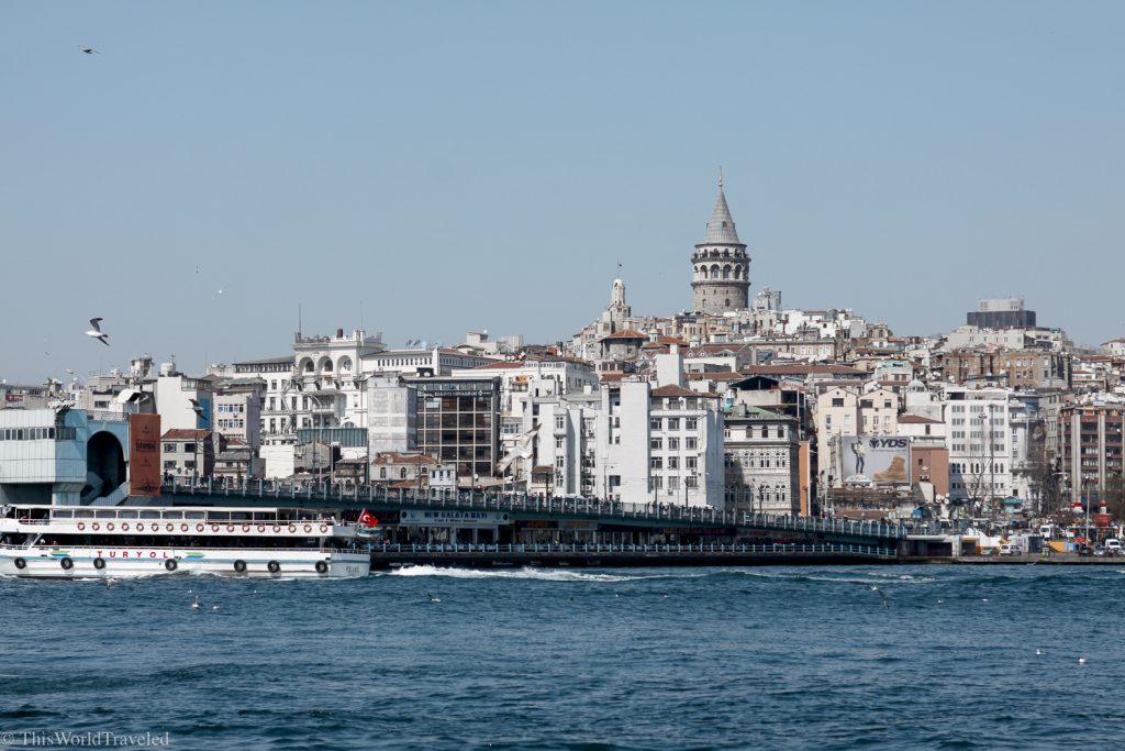 The Galata Tower stands tall above the city of Istanbul. You can get amazing 360 degree views of the city from the top!
