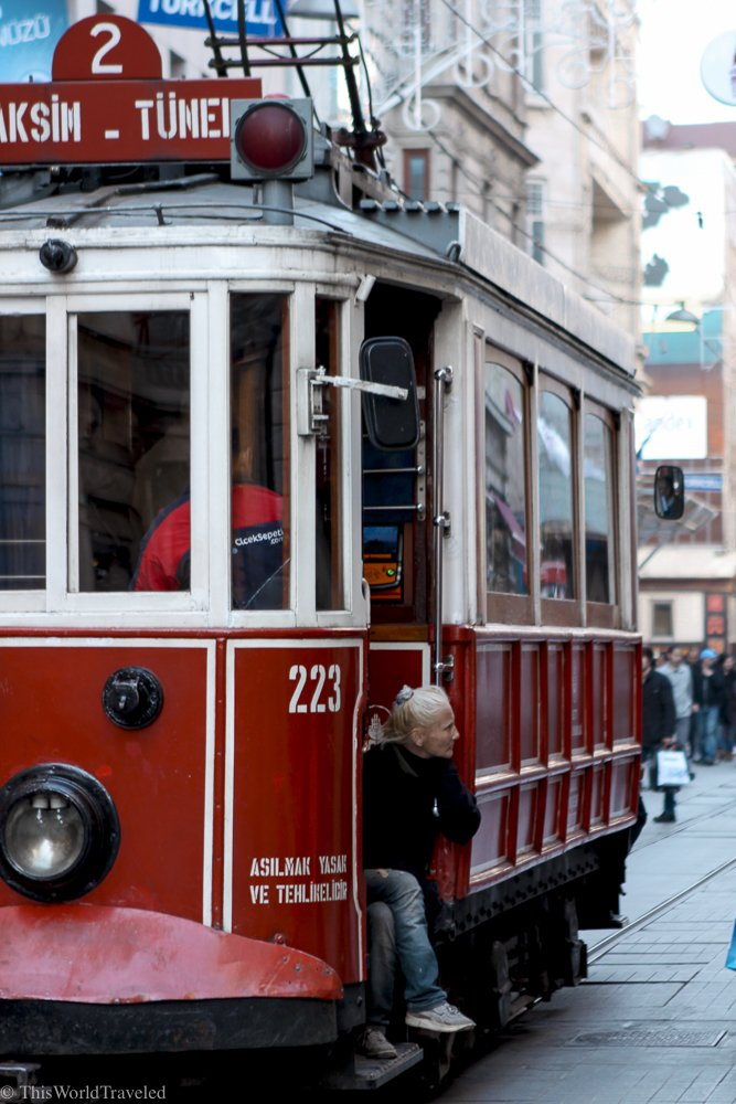 Trams are a great way to travel around the city of Istanbul
