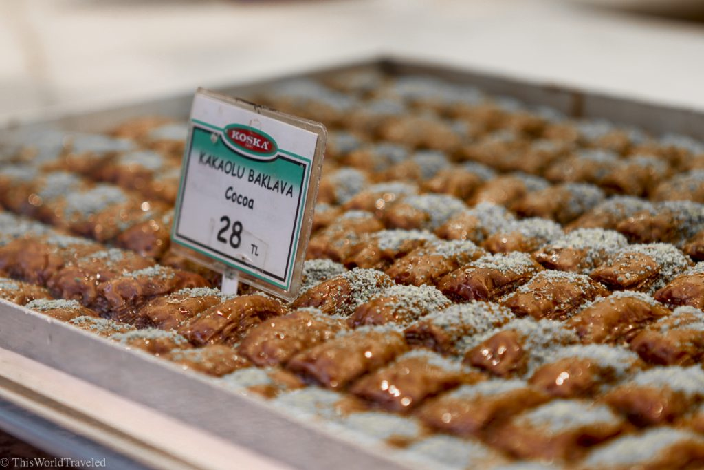 The baklava in Istanbul is delicious and must be eaten during your visit.