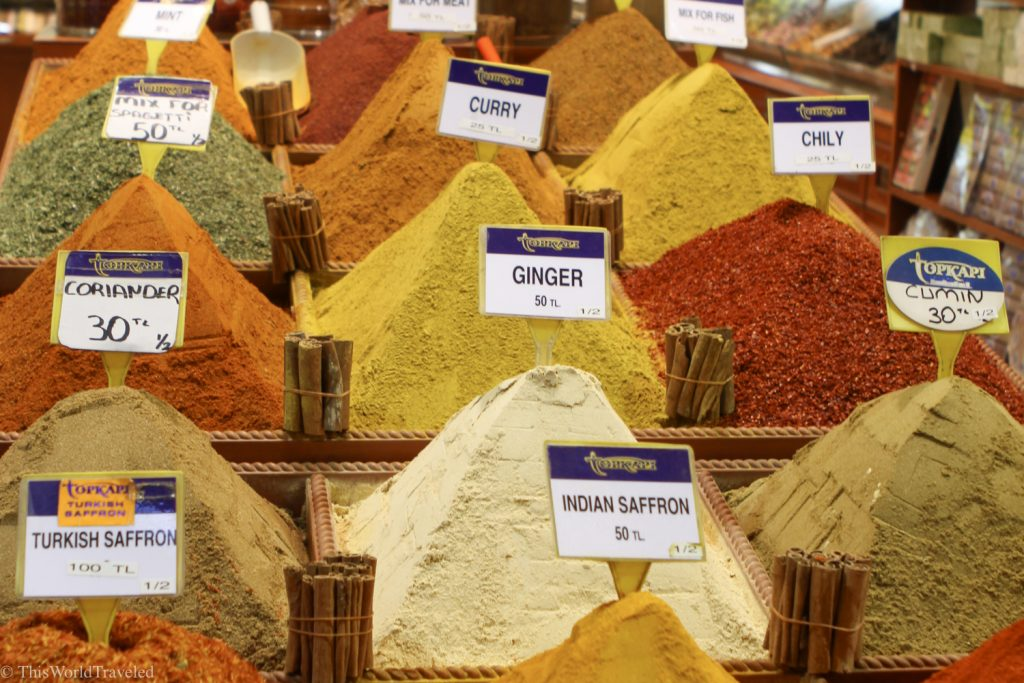 One of the top things to do in Istanbul is visit the spice market.