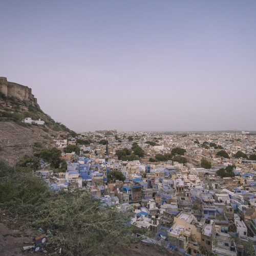 Bird's eye view of Jodhpur and the blue city