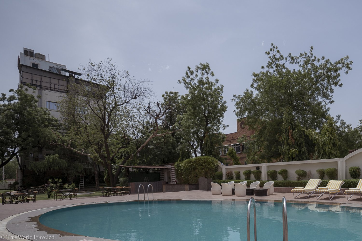 A pool at the Park Plaza hotel in Jodhpur
