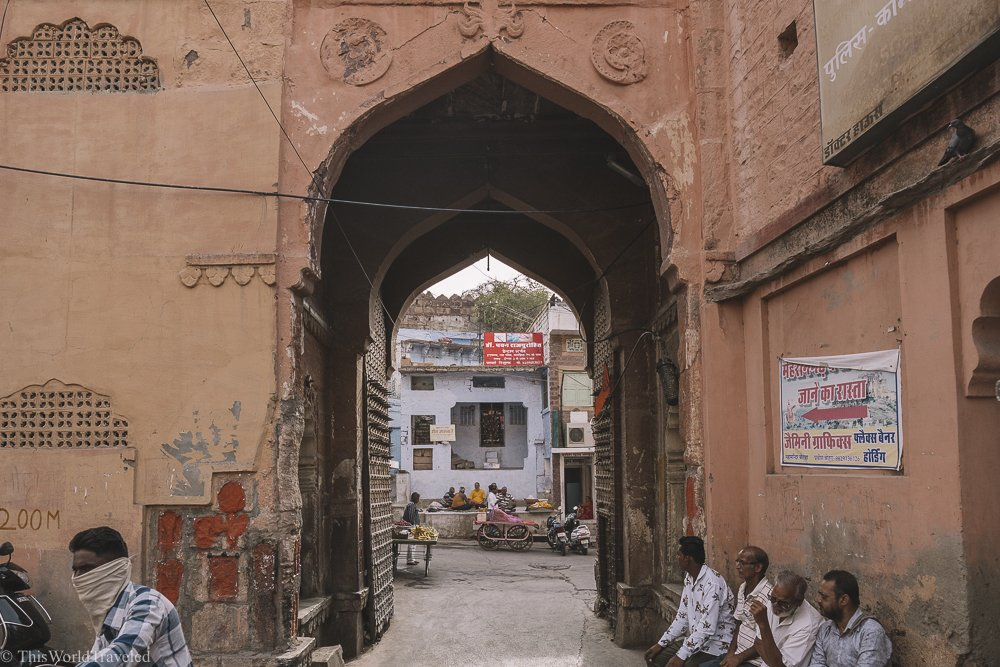 Entrance to Jodhpur through the main gate.