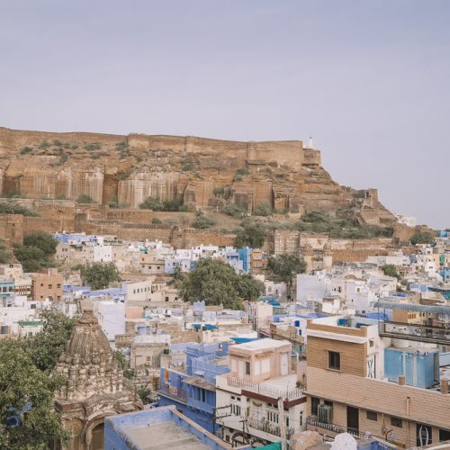view of the fort in jodhpur india