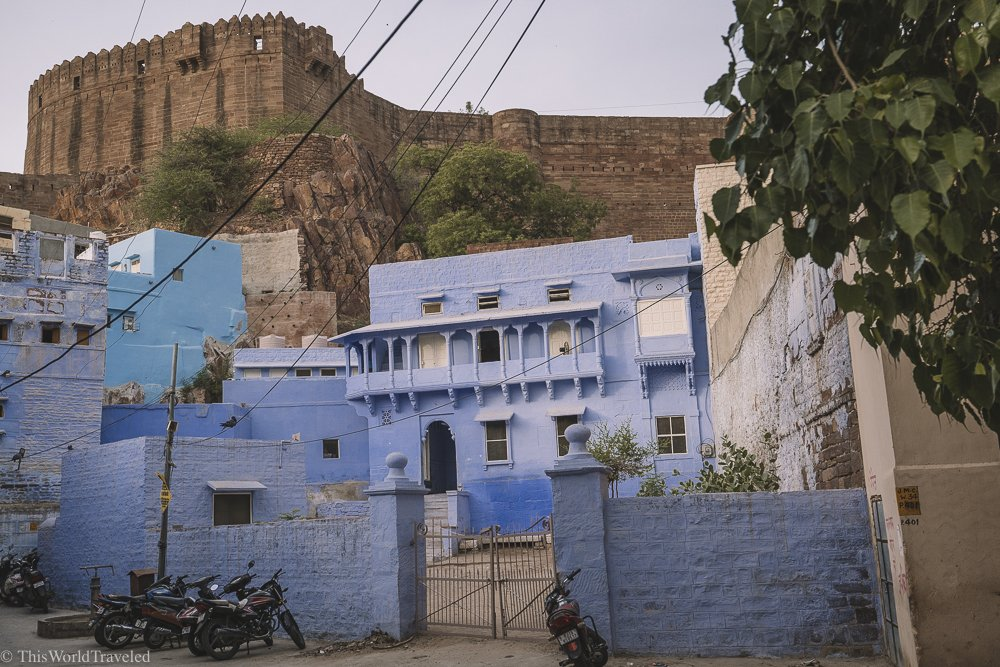 Some of the blue colored buildings in Jodhpur, India