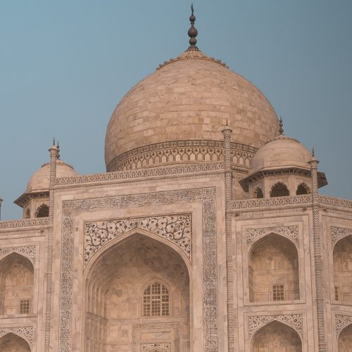Up close view of the Taj Mahal