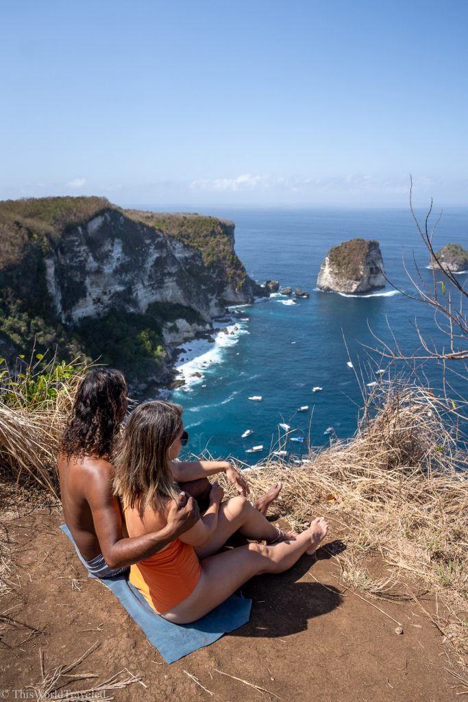 The view from Manta Point on Nusa Penida Island is beautiful!