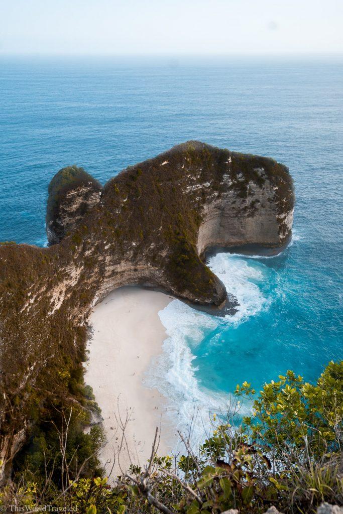 A T-Rex shaped mountain in Nusa Penida