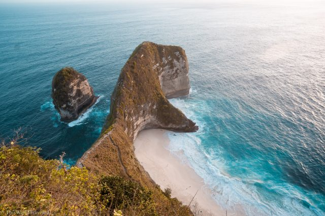 The T-Rex shaped beach called Kelingking Beach on Nusa Penida's West Coast