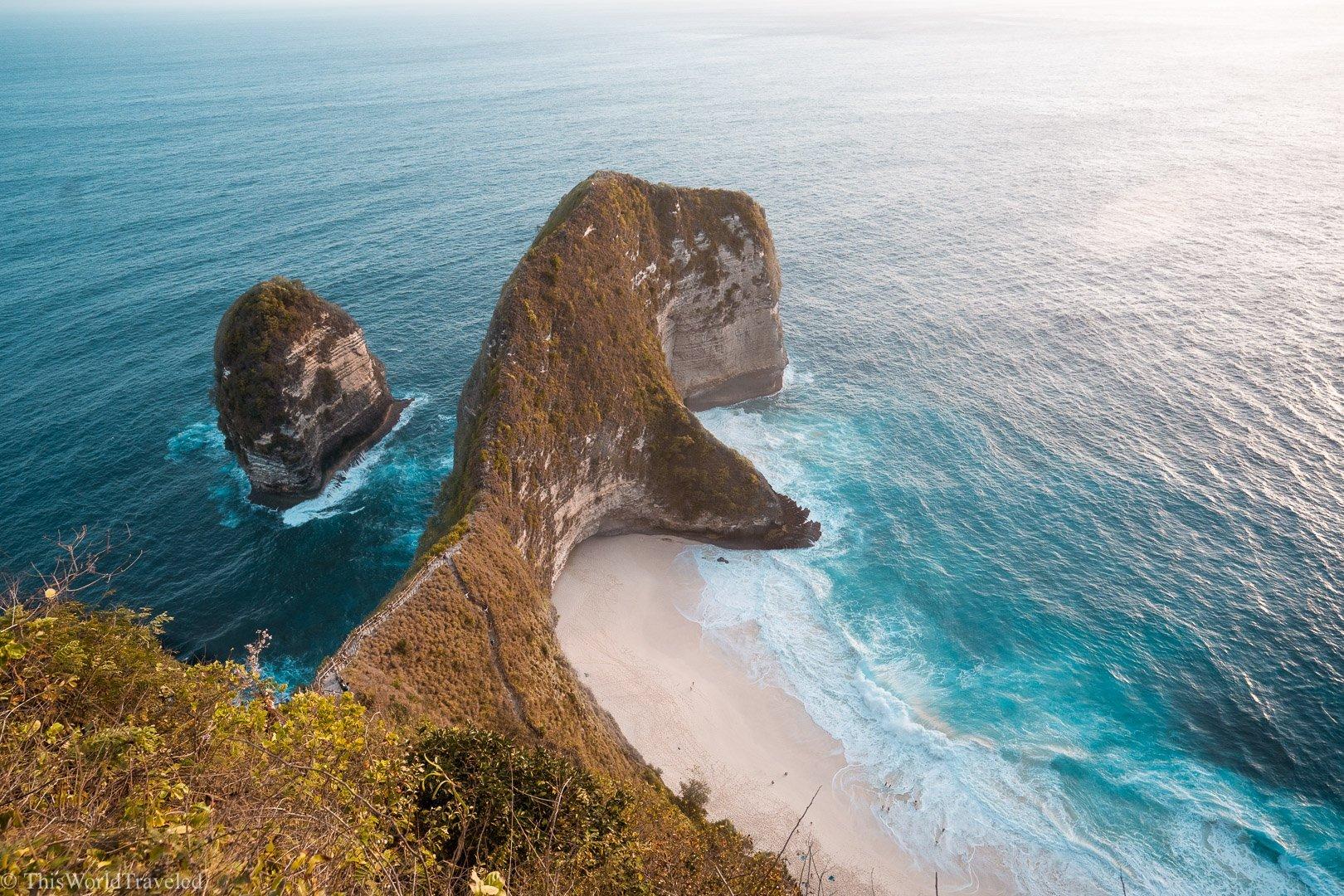 The T-Rex shaped beach on Nusa Penida