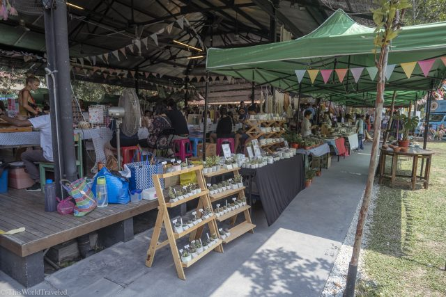 A pop up market in Georgetown, Penang located at the Hin Bus Depot with lots of vendors and cute items for sale