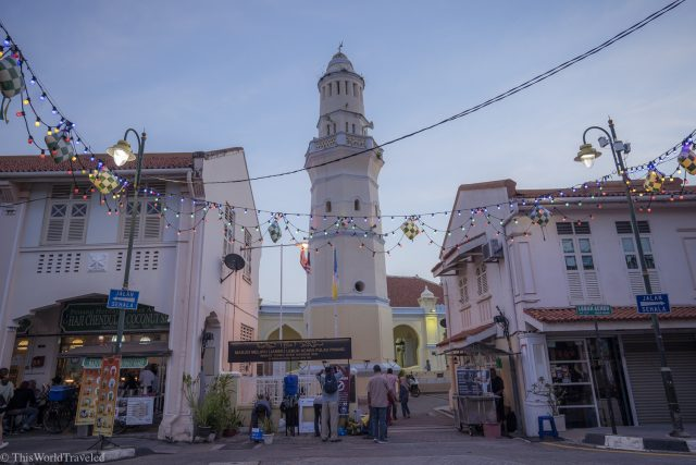 One of the mosques that is located in Georgetown on Penang Island in Malaysia