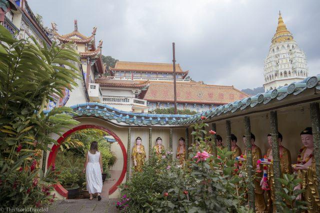 Inside the Kok Lek Si Temple in Penang located near Georgetown in Malaysia