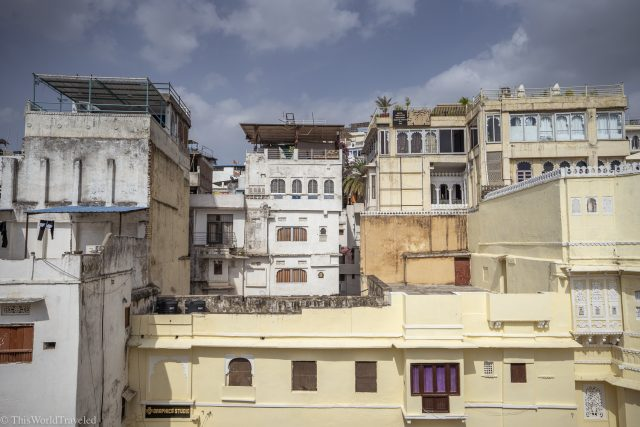 Views of the buildings from the Haveli Museum in Udaipur