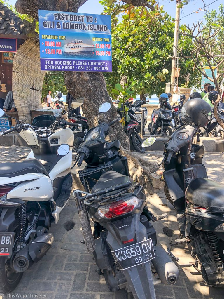 You can park your motorbike at Sanur Harbor before taking the boat to Nusa Penida Island
