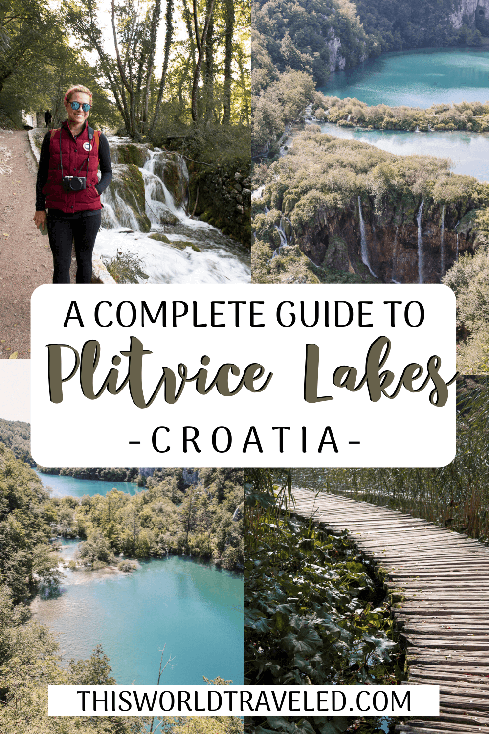 A Complete Guide to Visiting Plitvice Lakes National Park in Croatia Pinterest board cover