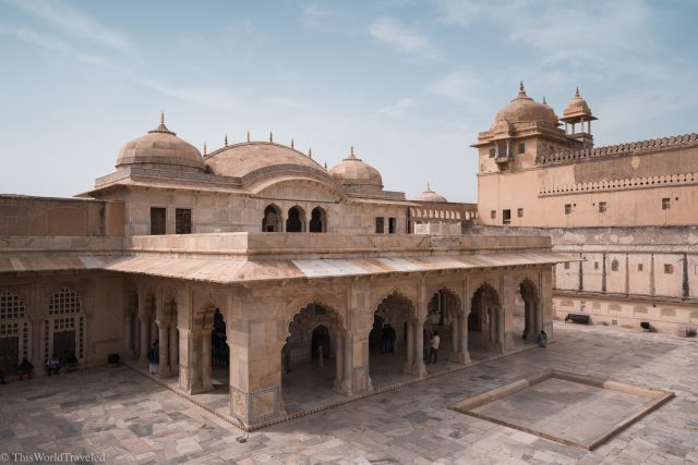 Inside the Amber Fort in Jaipur, India